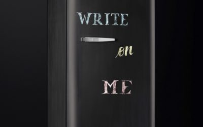Krijten op de koelkast