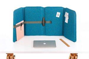 het akoestische Vlinder Flexscherm op je bureau